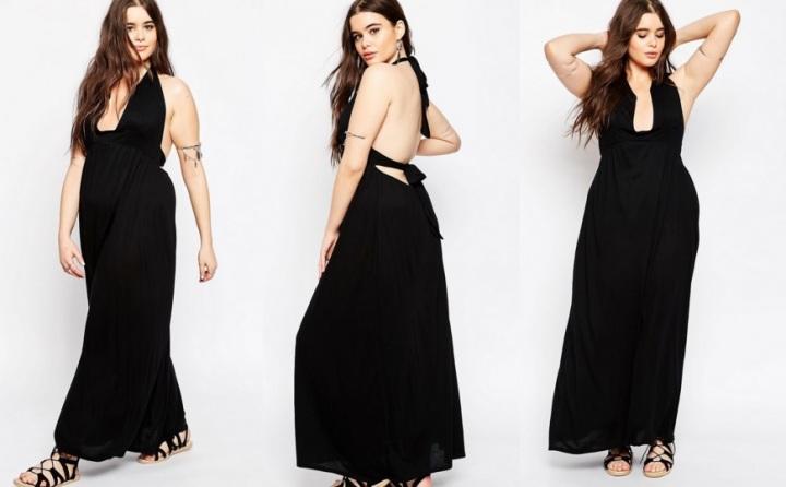 robe longue dos nu grandes tailles