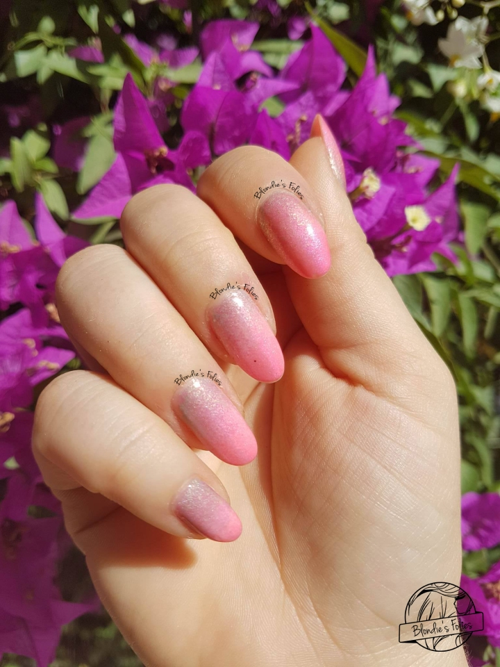 nailart facile rose