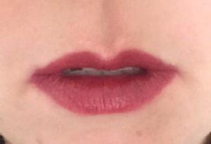 vampire lipstick swatch